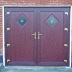 Woodgrain PVC French Doors