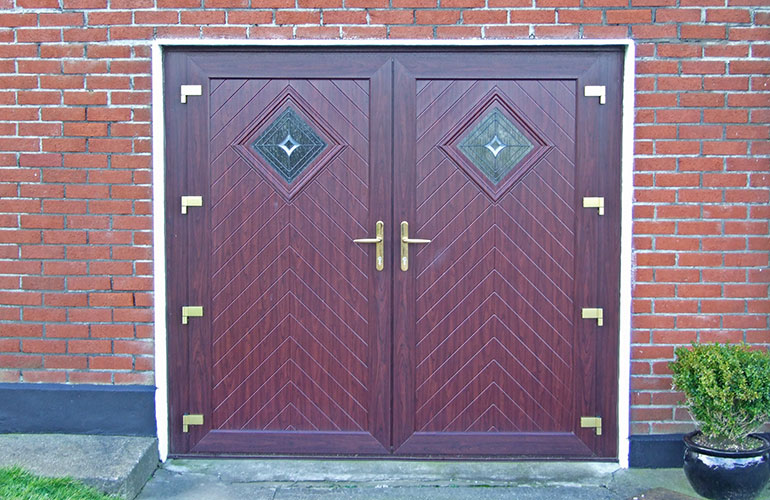 Woodgrain PVC Garage Doors