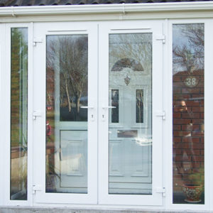 White PVC Draught Porch
