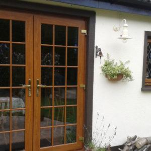 Woodgrain PVC French Doors